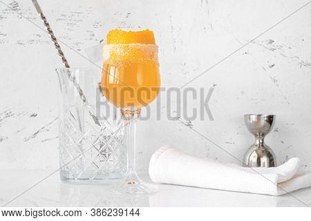 Glass Of Brandy Crusta
