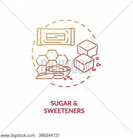 Sugar And Sweeteners Concept Icon. Diet Energetics Idea Thin Line Illustration. Food Additives. Suga