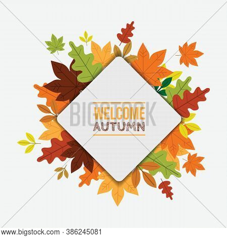 Welcome Autumn Vector Background