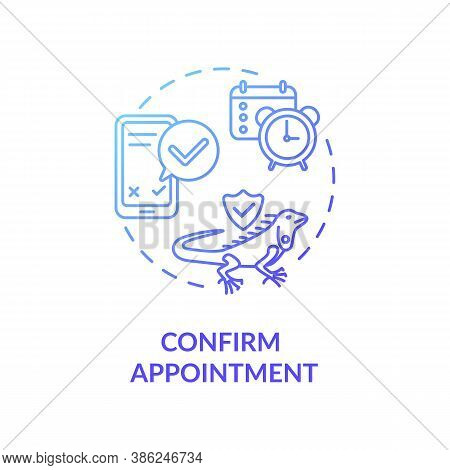 Confirm Appointment Concept Icon. Grooming Salon Services App. Pet Buying Confirmation. Animals Shop