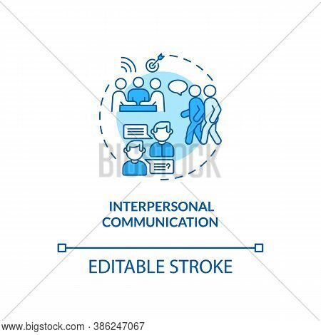 Interpersonal Communication Concept Icon. Communication Channels. Talking In Company. Information So