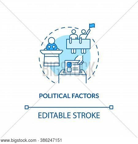Political Factors Concept Icon. Pestel Analysis. Election Issues. Business Stopping Problems Idea Th