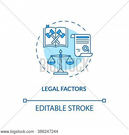 Legal Factors Concept Icon. Communication Life Saving Tips. Pestel Analysis. Law Information Idea Th