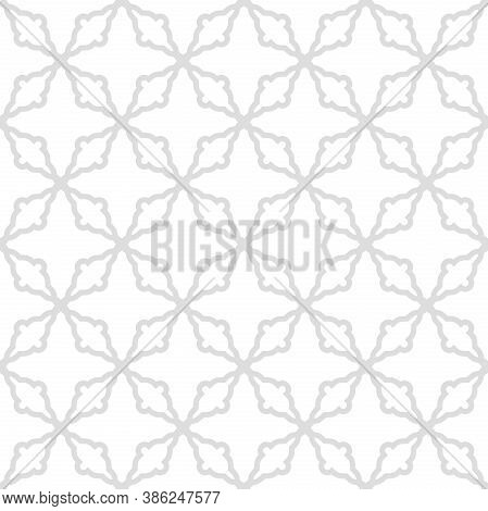 Seamless Light Vector Ornament In Arabian Style. Geometric Abstract Background. Pattern For Wallpape