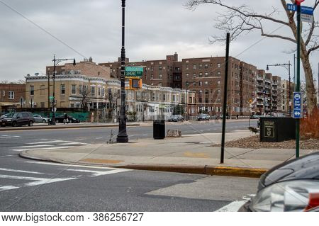 USA, New York 1.14.2015 , shore boulevard corner with Emmons Avenue in Queens