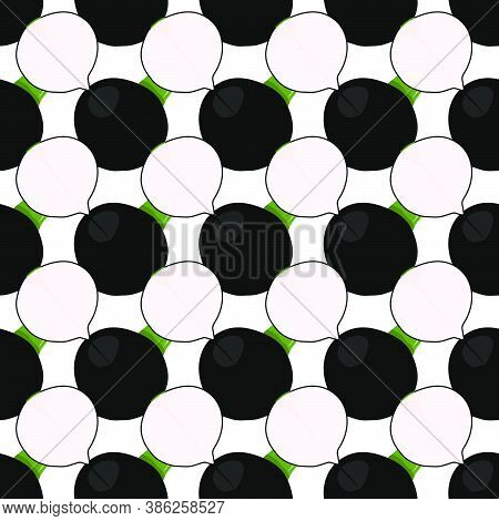 Illustration On Theme Bright Pattern Black Radish, Vegetable Root For Seal. Vegetable Pattern Consis