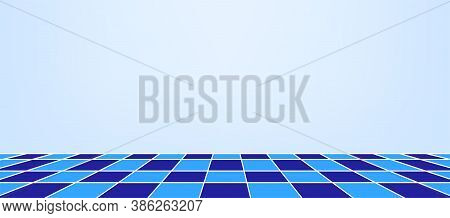 Wall And Checkered Tile Ceramic For Architecture Background, Bathroom Floors And Indoor Wall, Tiled