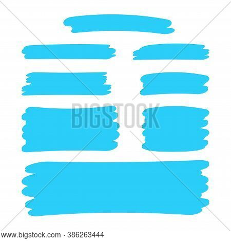 Light Blue Stripes Brush Paint For Scribble Marker, Brushstroke Painting Blue Pastel Soft Color, Blu