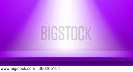 Plank Table Purple And Light Shine For Background, Plank Wood Violet Purple Color On Wall Room, Copy