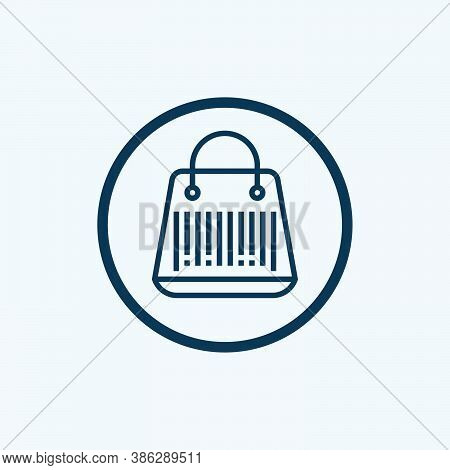 Barcode Icon Isolated On White Background. Barcode Icon In Trendy Design Style For Web Site And Mobi