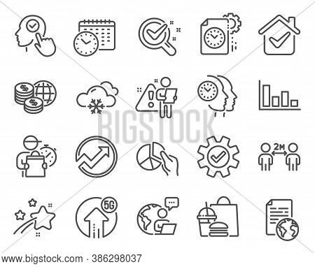 Science Icons Set. Included Icon As Social Distancing, Internet Document, Service Signs. Project Dea