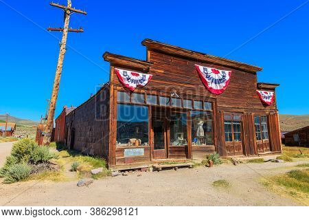 Bodie State Historic Park, California, United States Of America - August 12, 2016: Old Boone Store A