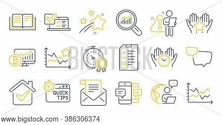 Set Of Education Icons, Such As Best Result, Smartphone Sms, Interview Symbols. Safe Time, Ranking S