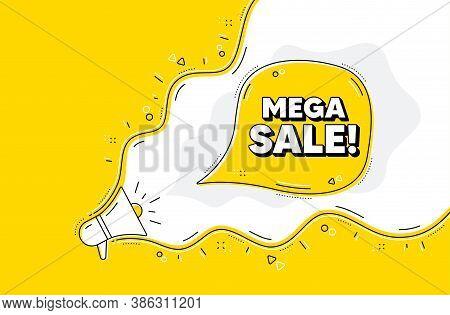 Mega Sale. Loudspeaker Alert Message. Special Offer Price Sign. Advertising Discounts Symbol. Yellow