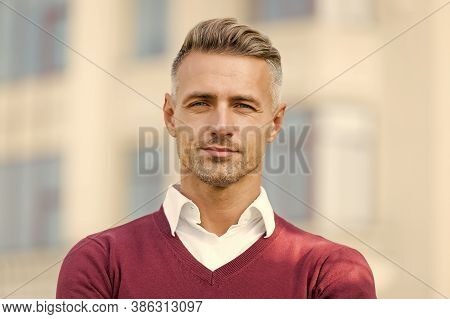 Barber Approved. Well Groomed Man Outdoor. Bearded Man With Unshaven Face. Beard Barber. Barber Serv