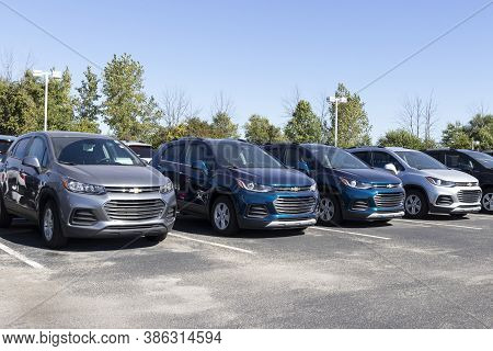 Plainfield - Circa September 2020: Chevrolet Trax Suv Crossover On Display At A Dealership. Chevy Is