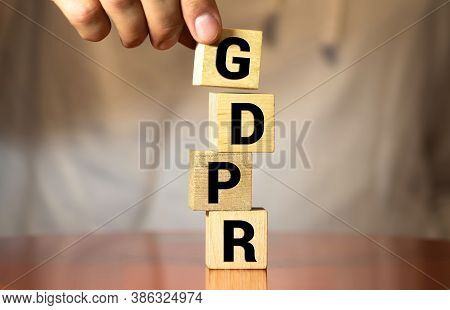 General Data Protection Regulation - Letters Spelling Gdpr, Keyboard In Background