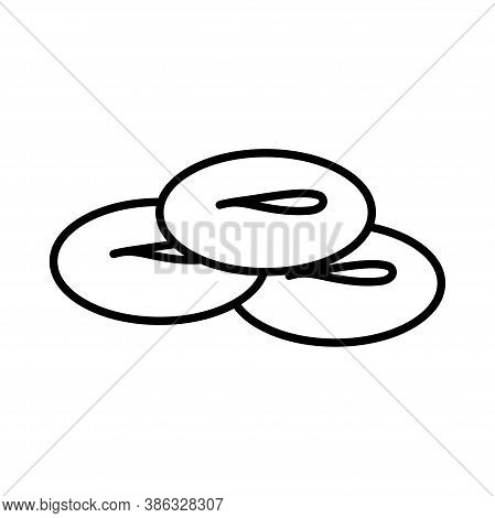 Isolated Salty Donuts Icon. Mexican Food- Vector