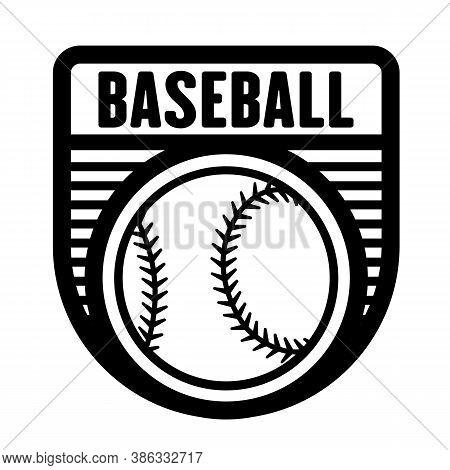 Baseball Sports Logo Template Vector Art Graphic