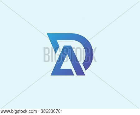Creative Letter D And R Logo Illustration. Graphic Design Element.