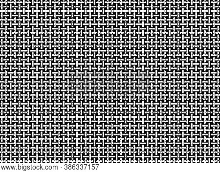 This Grid Background In White And Black Is Formed By Nearly Intersecting Vertical And Horizontal Jag