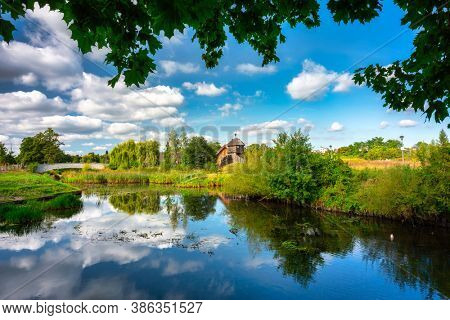 Beautiful scenery at the settlement of Trade Factory in Pruszcz Gdanski, Poland.