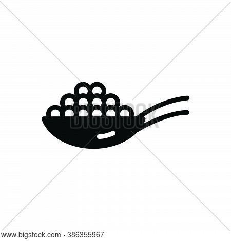 Black Solid Icon For White-pepper White Pepper Jalapeno Peppercorn Spicy Spoon Tart Condiment Spice