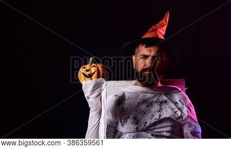 Happy Halloween Shirt. Happy Halloween Stickers. Man On The Horror Background. Halloween Witch With
