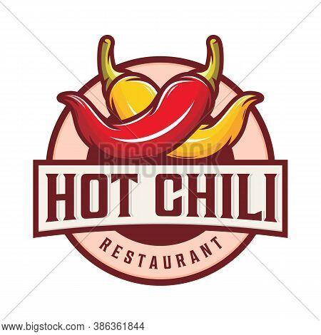 Hot Chili Logo Design With Illustration Of Chili Pepper
