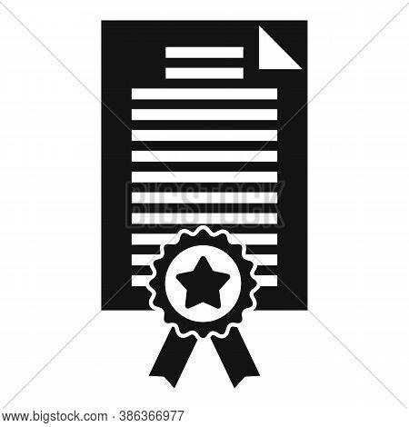 Diploma Reputation Icon. Simple Illustration Of Diploma Reputation Vector Icon For Web Design Isolat
