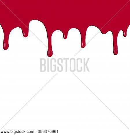 Dripping Red Paint. Dripping Liquid. Fluid Fluid. Spilling Paint. Falling Paint. Fluid Oil Stain. Ab
