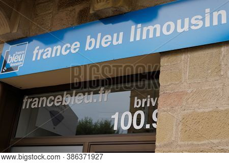 Brive-la-gaillarde , Correze / France - 09 20 2020 : France Bleu Limousin In Brive City Office Logo