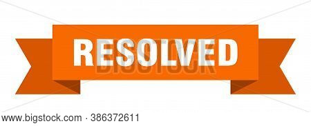 Resolved Ribbon. Resolved Isolated Band Sign. Banner