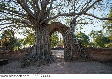 The Arch That Covers The Roots Of The Bodhi Tree That Was Known As The Gate Of Time Phra Ngam Temple