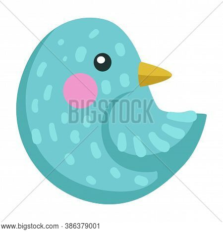Bird With Blue Plumage, Birdie Or Sparrow Avian Animal