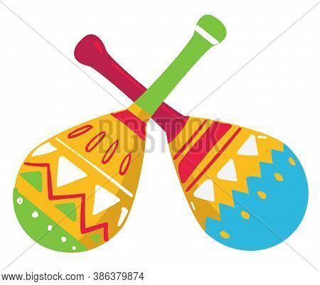 Maracas Traditional Musical Instrument Of Mexico, Mexican Culture