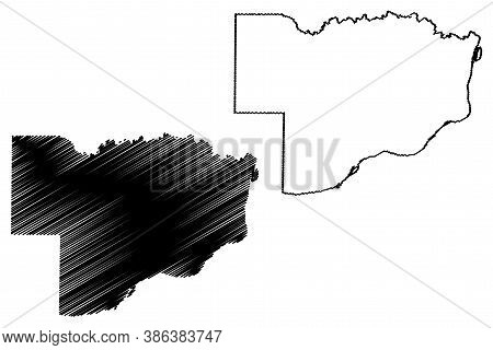 Scott County, Iowa (u.s. County, United States Of America, Usa, U.s., Us) Map Vector Illustration, S