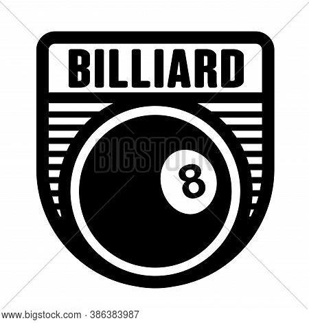 Billiard, Snooker Club Logo Template, Vector Art Graphic. Ideal For Snooker, Billiard Club And Team