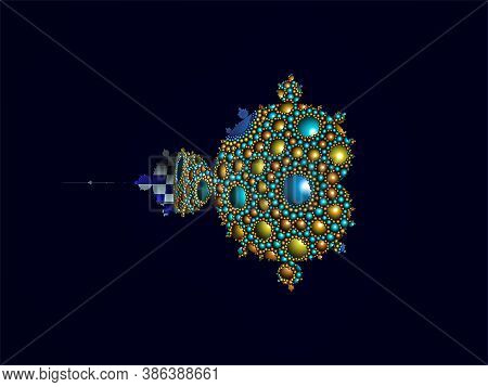 Apollonian Gasket Or Apollonian Net Mandelbrot Set Fractal Pattern.  It Is Named After Greek Mathema