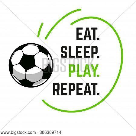 Football Event Banner Header Design. Funny Text With Vector Football Ball. Soccer Or Football Abstra