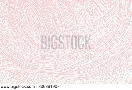 Grunge Texture. Distress Pink Rough Trace. Fine Background. Noise Dirty Grunge Texture. Remarkable A