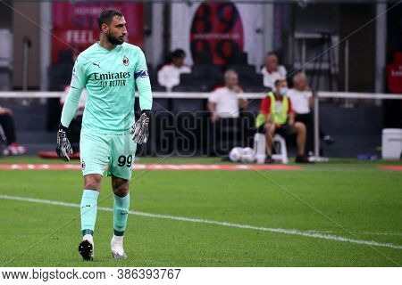 Milano, Italy. 21th September 2020. Italian Serie A. Gianluigi Donnarumma  Of Ac Milan   During The