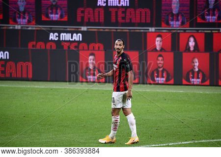 Milano, Italy. 21th September 2020. Italian Serie A. Zlatan Ibrahimovic  Of Ac Milan   During The  S