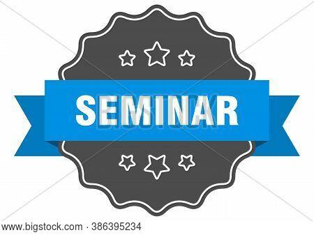 Seminar Label. Seminar Isolated Seal. Sticker. Sign