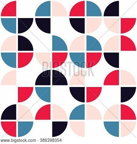 Funky Geometric Mid-century Modern Vector Seamless Pattern, Retro Funky Textile, Fabric Print Design
