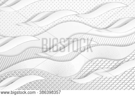 Geometric Layered Background. Paper Textured Objects On The White Embossed Background. Vector Eps10