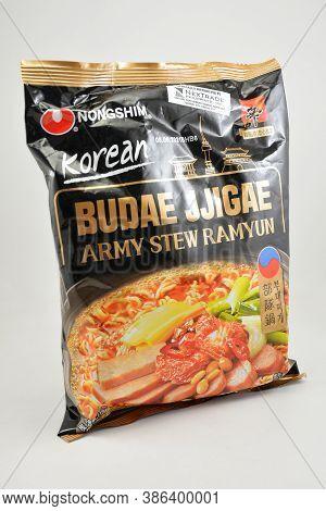 Manila, Ph - Sept 10 - Nongshim Budae Jjigae Army Stew Ramyun Ramen On September 10, 2020 In Manila,