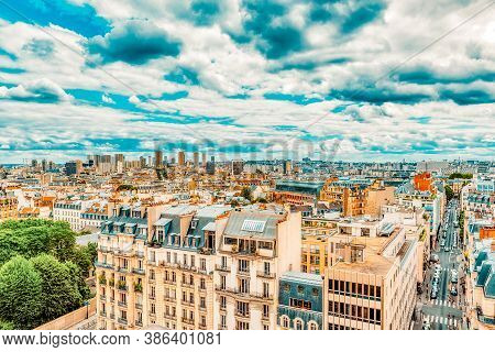 Beautiful Panoramic View Of Paris From The Roof Of The Pantheon.