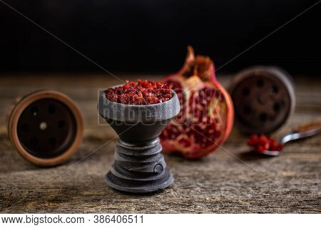 Arabian Stone Hookah Head Filled With Pomegranade Flavoured Tobacco