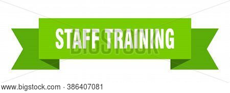 Staff Training Ribbon. Staff Training Isolated Band Sign. Banner